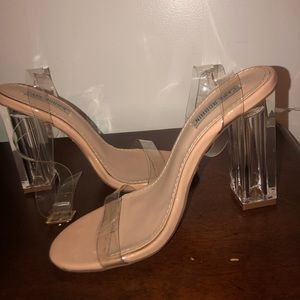 Shoes - Clear strap heels